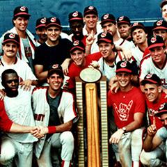 Group of baseball alumni