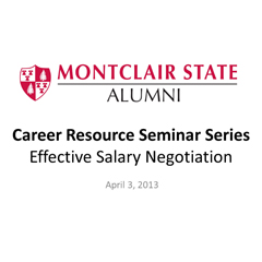 Effective salary negotiation