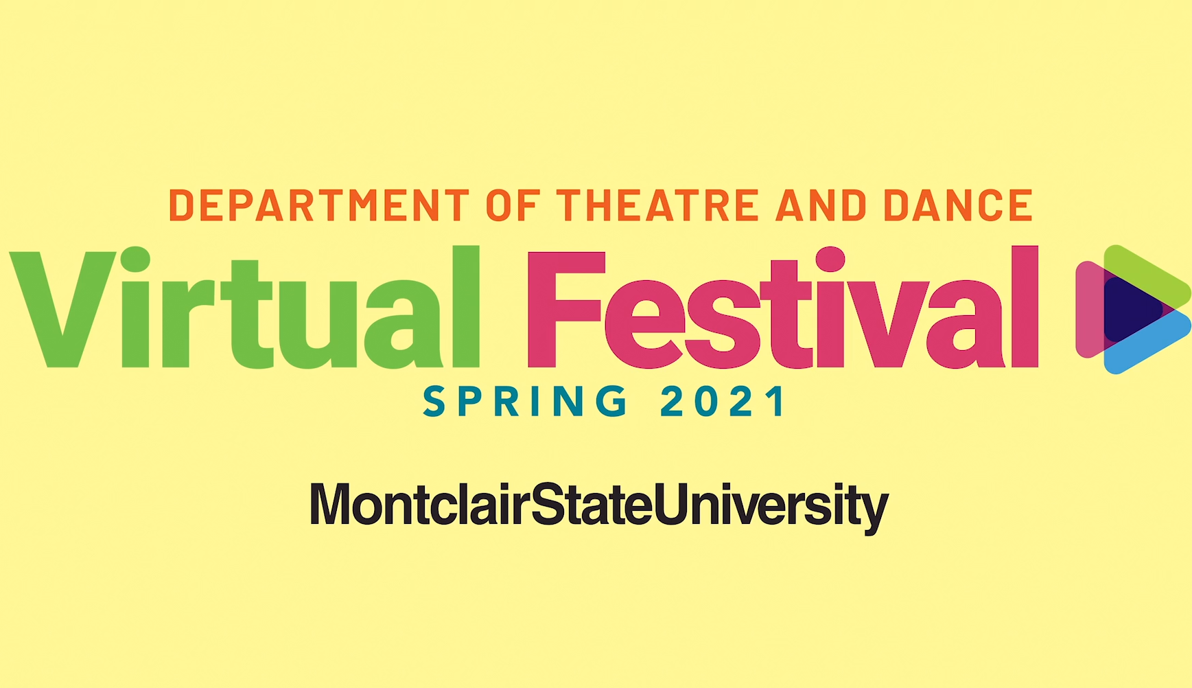 Logo of Department of Theatre and Dance's Virtual Festival Spring 2021